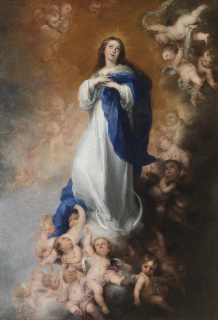 """Bartolome Esteban Murillo-La inmaculada de los Venerables"""", c. 1678"""