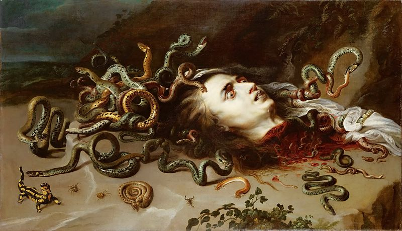 Cabeza de Medusa, Pierre Paul Rubens, ca. 1617-1618