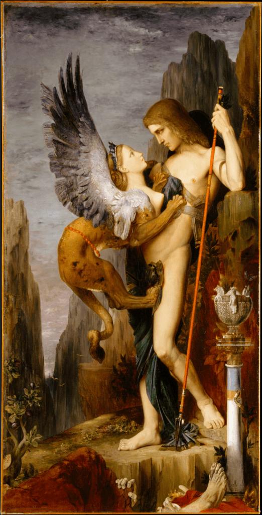 Edipo y la esfinge, Gustave Moreau, 1864
