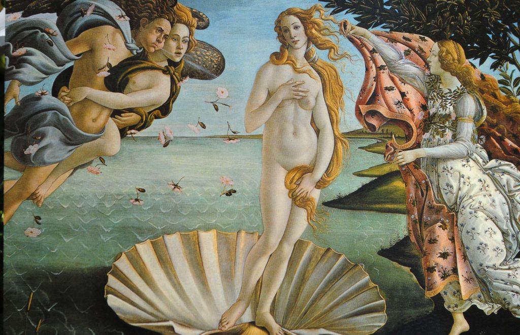 El nacimiento de Venus, Sandro Boticelli, 1484