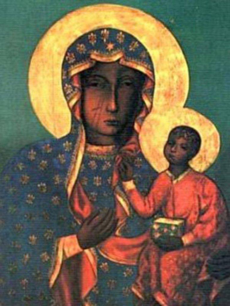 La Virgen negra de Czestochowa, en Polonia