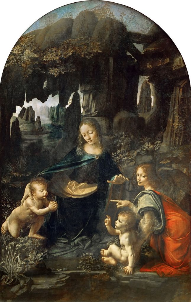 Leonardo DaVinci -La Virgen de las Rocas (1483)