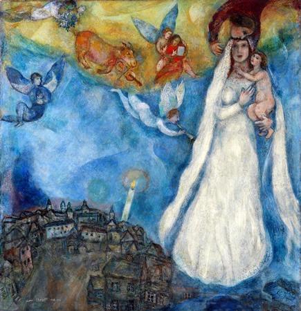 Marc Chagall- La virgen de la aldea, 1940-1942