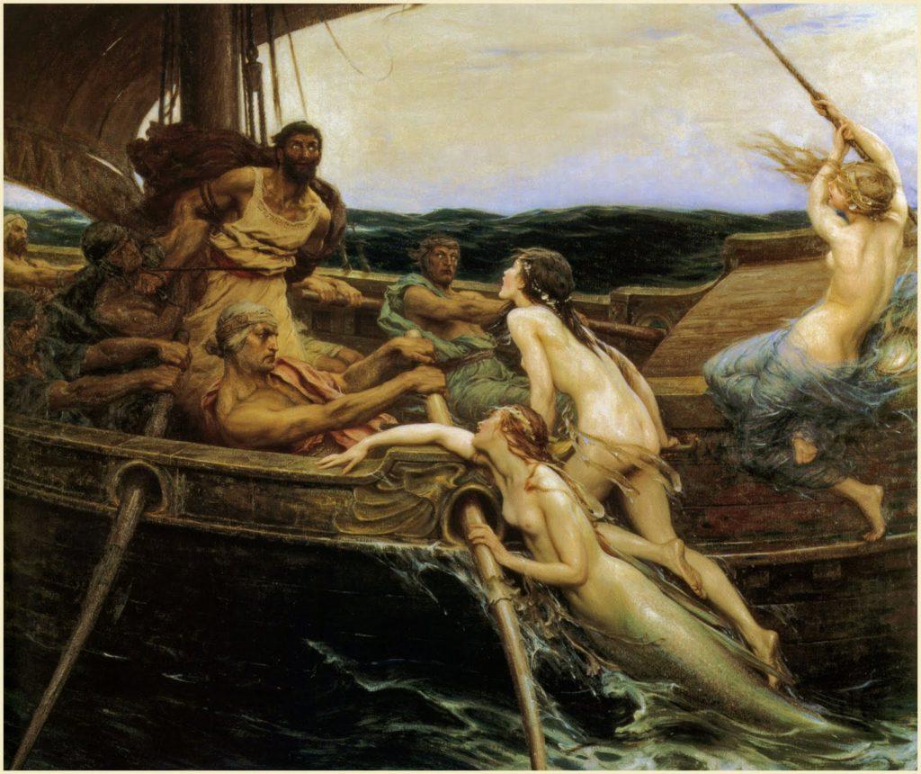 Ulises y las sirenas, Herbert James Draper, 1909